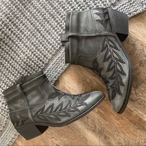 Joie Ajax Embroidered Ankle Boots